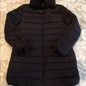 Zara woman szS navy down puffer coat